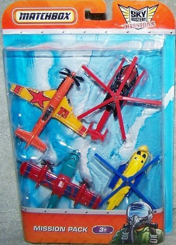 Matchbox Sky Busters Mission Pack - 4 Aircraft - Blaze Buster - Sikorsky S-92 - Stunt Devil - Airblade ()