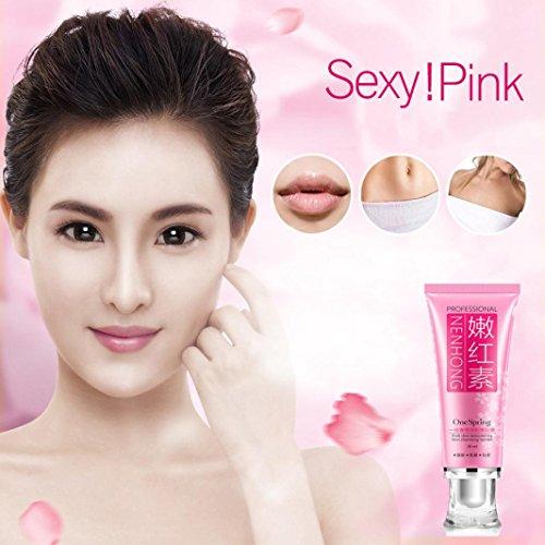 Hunputa Cherry Bleaching Pinkish Blossom Essence Get Women Lips, Underarm, Armpit, Private Parts Labia, Nipples, Lips Pink, Body Whitening Lightening Cream 30ml for Dark Skin