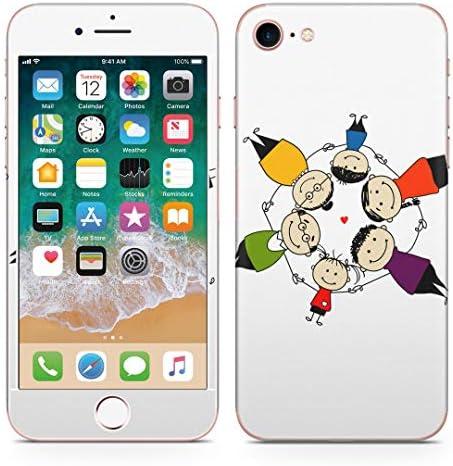 igsticker iPhone SE 2020 iPhone8 iPhone7 専用 スキンシール 全面スキンシール フル 背面 側面 正面 液晶 ステッカー 保護シール 007692 ユニーク 人物 イラスト 家族