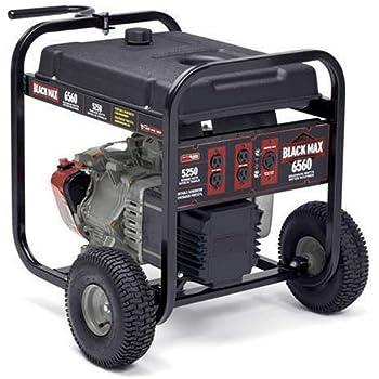 Amazon Com Black Max 5 250 6 560 Watt Portable Generator Portable Power Generators