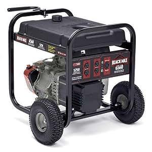 Amazon Com Black Max 5 250 6 560 Watt Portable Generator Garden Amp Outdoor