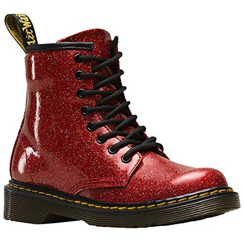 llection Girl's 1460 Patent Glitter Junior Delaney Boot (Little Kid/Big Kid) Red Multi Coated Glitter 3 M UK ()