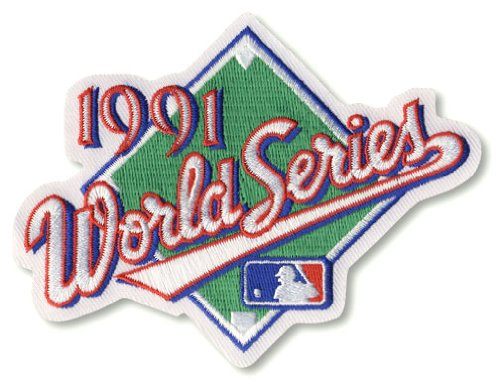 1991 MLB World Series Logo Jersey Patch Atlanta Braves vs. Minnesota Twins - World Series Mlb Baseball Jersey
