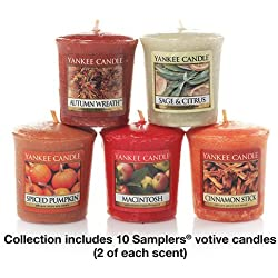 Yankee Candle Fall Favorites Samplers Collection Votive Candles Gift Set