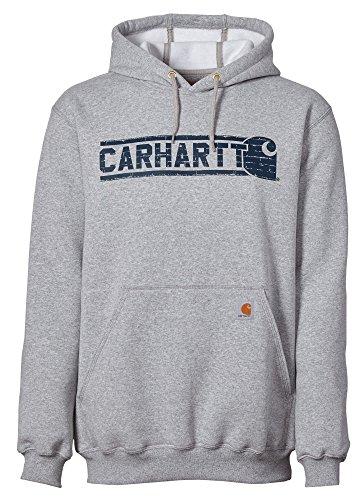 ight Brick Hoodie (Heather Grey, L) (Carhartt Chest Pocket Sweatshirt)