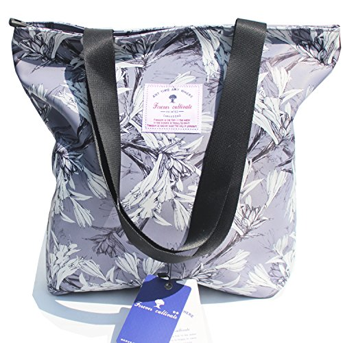 - Original Floral Tote Bag Shoulder Bag for Gym Hiking Picnic Travel Beach