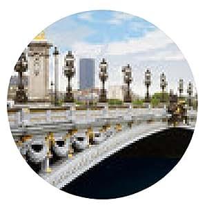 alfombrilla de ratón puente de Alejandro III en París, en la mañana, Francia - ronda - 20cm