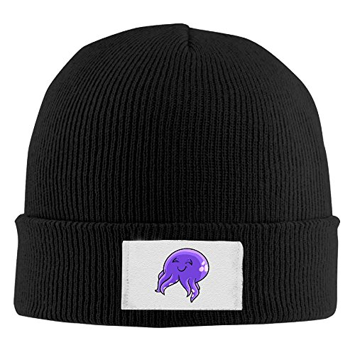 Men Women Enjoying Purple Squid Warm Stretchy Knit Wool Beanie Hat Solid Daily Skull Cap Outdoor Winter ()