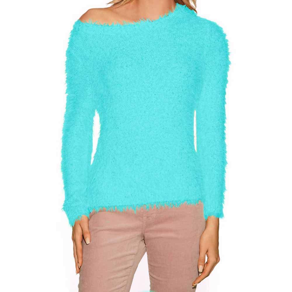 NRUTUP Women's Hooded Plaid Stitching Top Collar Sweater Sleeve Sweatshirt Blouse Hot Sales!(Blue,XS)