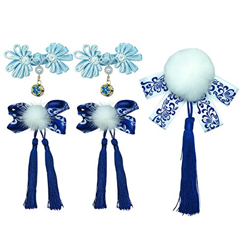 Chinese Style Girls Hairclips Set(Blue)