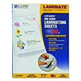 C-Line Cleer Adheer Laminating Film Sheets, 9 x 12 Inches, Clear, 50 per Box (65001)