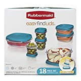 Rubbermaid Easy Find Lid 18-Piece Food Storage Container Set, Blue