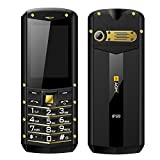 quad beat earphone - AGM M2 Rugged Unlocked Cell Phone IP68 GSM Quad Bands 2.4 inch Display Old Man Video Mobile Phone Dual Sim Waterproof Dustproof Shockproof (Gold)
