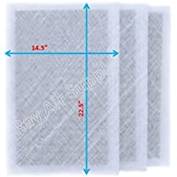 Ray Air Supply 16x25 MicroPower Guard Air Cleaner Replacement Filter Pads (3 Pack) WHITE