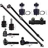 Scitoo 10Pc Ball Joint Tie Rod Ends Adjusting Sleeve Front Suspension Parts fit 1997-2006 Jeep Wrangler TJ