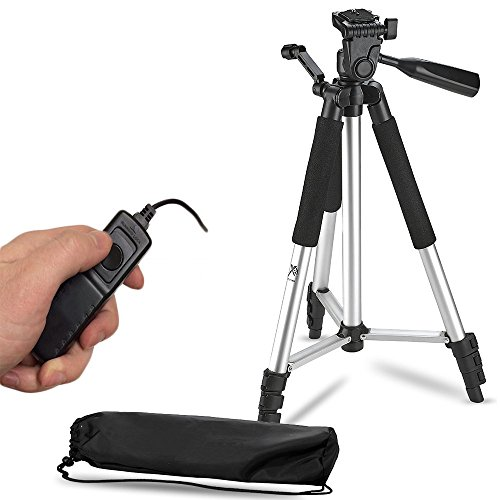 57-Inch-Lightweight-Aluminum-Camera-Tripod-Remote-Shutter-Release-for-Canon-T6i-T6-T6s-T5i-T5-T4i-T3i-T2i-T1i-and-4-inch-mini-tripod-Included-4-Piece-Set