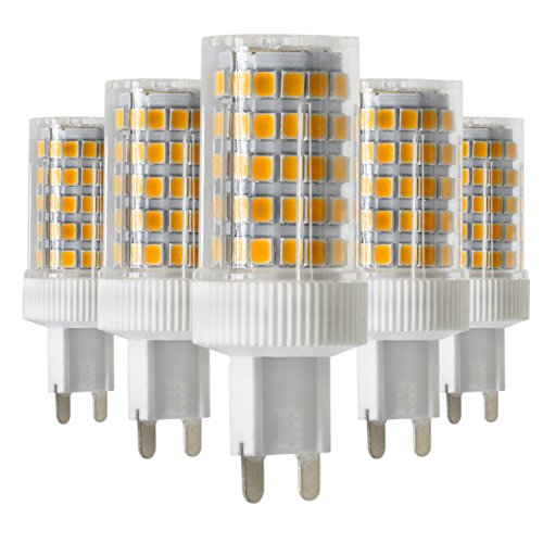 MUMUWU Dimmable G9 10Watts 86LED 2835SMD 850-950 Lm Warm White LED Ceramics Lamp AC 220-240V (Pack of 5) (Size : Warm White)
