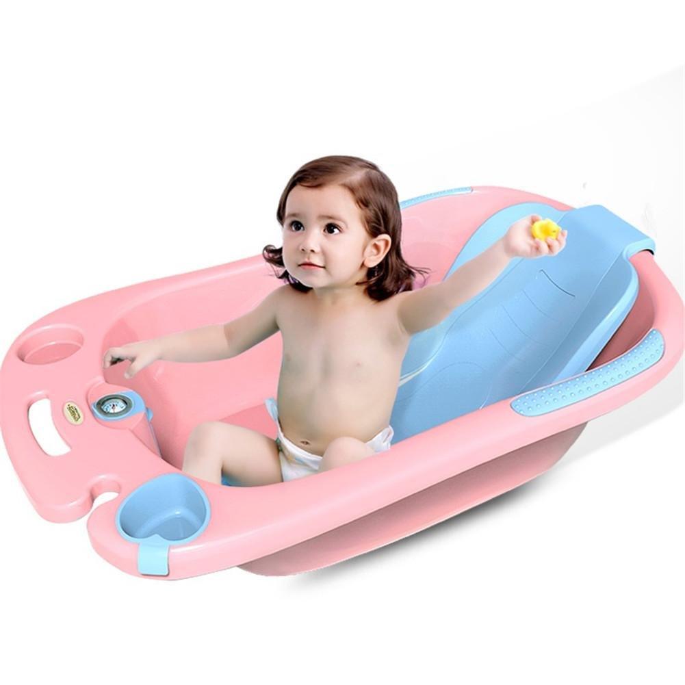 MYMGG Kinder Badewanne Babywanne Kann im allgemeinen Kindern Badewanne Größe Geeignet für 0-6 Jahre Alt Baby Umweltschutz PP-Kunststoff-Sicherheit ungiftig Größe 89x52x25cm sitzen
