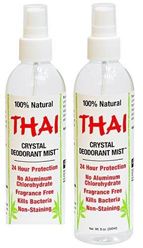 Thai Deodorant Stone Crystal Mist Natural Deodorant Spray 8 oz. Bundle, Pack of 2 (Deodorant Crystal Spray Mist)