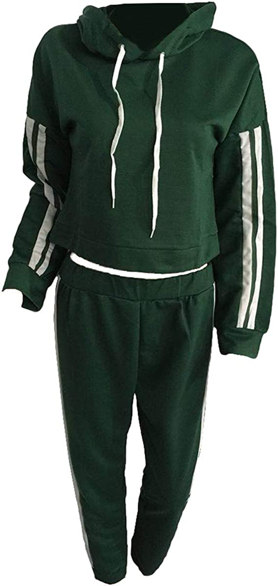 Mxssi Chándal Mujer 2 Piezas Set Outwear Sweatsuit Rayas ...