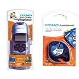 Dymo LetraTag LT-100H Label Maker ABC Keyboard with 1 LetraTag Plastic Labelling Tape, 12 mm x 4 m - Black on White