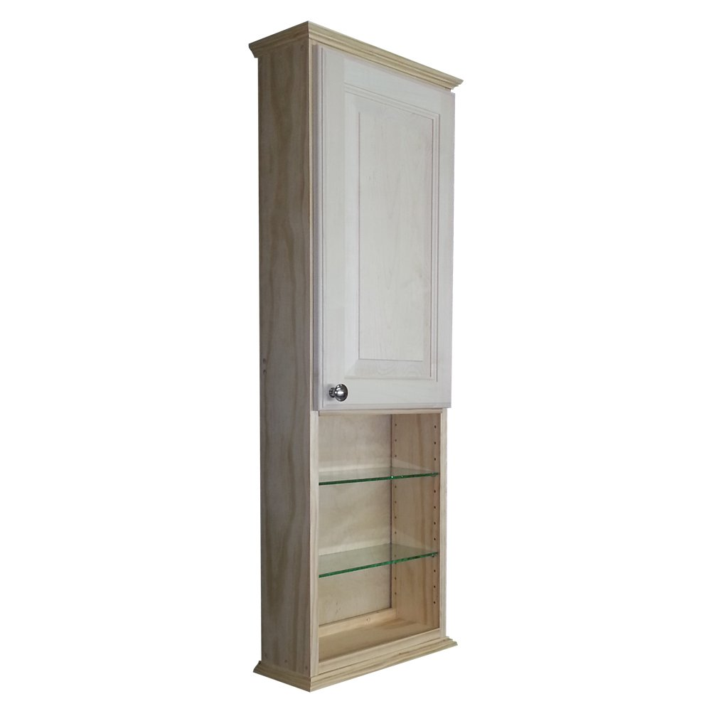 Wood Cabinets Direct 42'' Sadler Series on The Wall Cabinet with 18'' Open Shelf 5.deep Inside