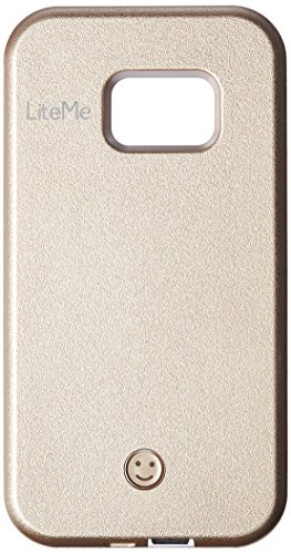 LiteMe Samsung Galaxy S7 Phone Case - Selfie LED Light Smart Mobile Case with Built-in Power Bank - SereneLife SL301S7GD (Gold)