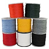 Hollow Braid Polypropylene Rope (1/4 inch) - SGT KNOTS - Barrier Rope - Hydrophobic - Moisture & Chemical Resistant - Golf Courses, Trail Marking, Crowd Control (50 feet - Black)
