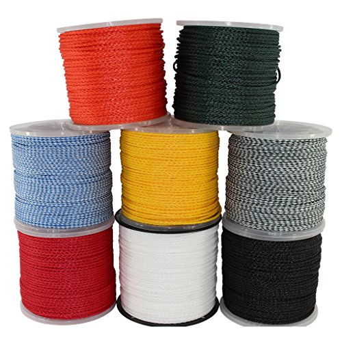 (Hollow Braid Polypropylene Rope (1/2 inch) - SGT KNOTS - Barrier Rope - Hydrophobic - Moisture & Chemical Resistant - Golf Courses, Trail Marking, Crowd Control (50 feet - White))