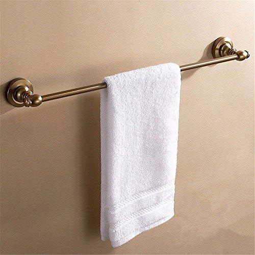 DIDIDD European Style Antique Copper Bath Aluminum Single Pole Towel Bar Bathroom Extension Shelf by DIDIDD