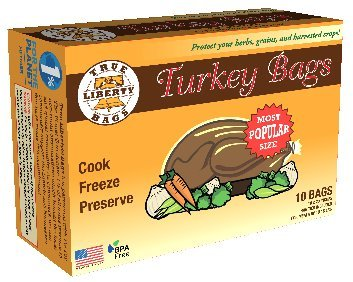 True Liberty® Bags, Turkey Bags - 10 Count Box, Oven Bags, Kitchen Bags, All-Purpose Home and Garden Bags