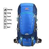 40L Hiking BackPack, AMEISEYE Internal Frame Daypack,Waterproof Trekking Rucksacks with Rain Cover,Travel Knapsack for Climbing Camping Mountaineering Fishing (Blue)