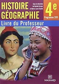 Histoire géographie 4e : Livre du professeur par Rachid Azzouz