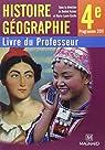Histoire géographie 4e : Livre du professeur par Azzouz
