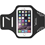 Armband for iPhone, VCOO Ultra Thin Soft Running Case with Reflective Strip and Extension Strap, Sweatproof Workout Arm Band for iPhone 7 / 6s / 6 / Samsung Galaxy LG HTC Nokia Moto (4.7-5.0 inch)