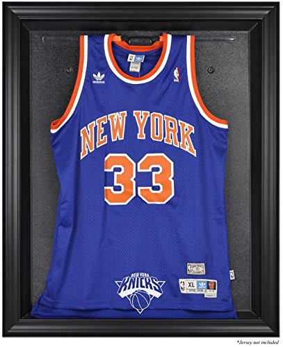 New York Knicks Brown Framed Logo Jersey Display Case by Sports Memorabilia