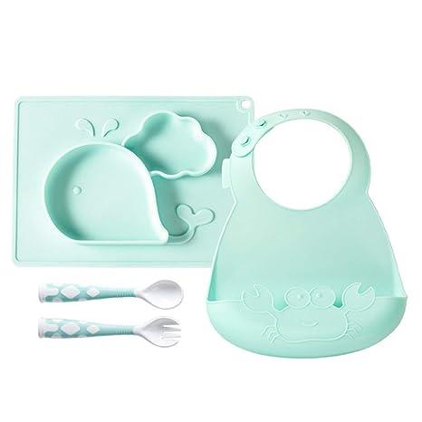 Amazon.com: Juego de cucharas de silicona para niños, diseño ...