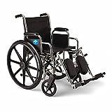 Medline Excel 2000 Swing Away Foot Wheelchairs, RDLA, 18-Inch