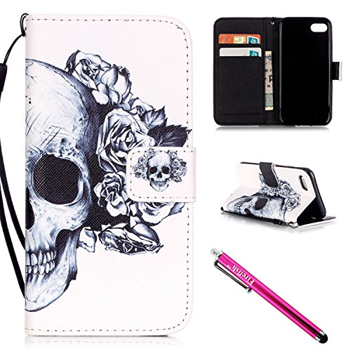 iPhone 7 Case, iPhone 7 Wallet Case, Firefish [Card Slots] [Kickstand] Flip Folio Wallet Case Synthetic Leather Shell Scratch Resistant Protective Cover for Apple iPhone 7 (Vest Robin)
