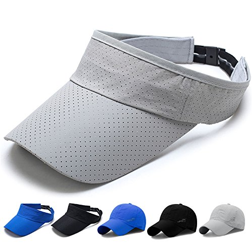 (SHANLIANG Quick Dry Sports Hat Lightweight Breathable Soft Outdoor Run Cap(Gray))