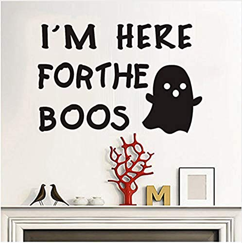 Wall Stickerwall Sticker Mural I'm Here Forthe Boos Wall Sticker Halloween Window Home Decoration Decal Decor Scary Ghost Vinyl Adhesive Art Decals Wallpaper 59Cm X 40Cm
