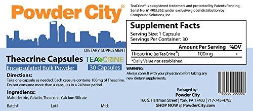 Powder City Teacrine® (Theacrine) Capsules (30 Capsules)