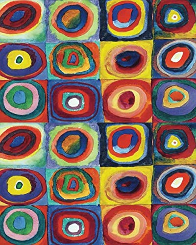 2020 Full Page At A Glance Daily Planner, Wassily Kandinsky Color Study Squares with Concentric Circles Beautiful Kandinsky Cover art with a durable glossy finish. Full Page per daywith 12 hour time slots Monthly Overview Calendar...