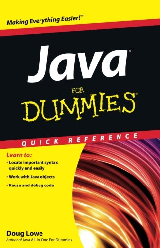 Java For Dummies Quick Reference by For Dummies