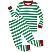 shelry Boys Christmas Pajamas Children Cotton Clothes Kids Pjs Pants Set Red Green