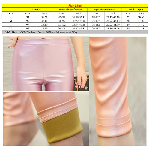 Zhhlinyuan Women mujeres Fashion Thin Skinny Leggings PU Leather Trousers Pencil Pants Hot Purple