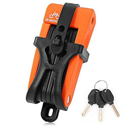 AVOLUTION Portable Premium Anti-Theft Mountain Stainless steel Folding Bike Lock Orange by AVOLUTION