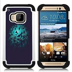 - night birds black minimalist/ H??brido 3in1 Deluxe Impreso duro Soft Alto Impacto caja de la armadura Defender - SHIMIN CAO - For HTC ONE M9