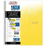 Spiral Notebook 1 Subject College Rule Yellow - Five Star Yellow
