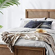 Amazon Brand – Stone & Beam Hand-Woven Global Throw Blanket With Tassels 100% Co